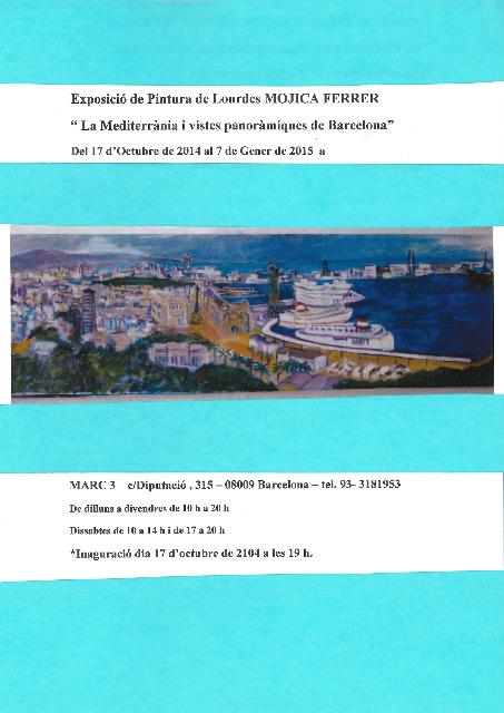Exposición Lourdes Mojica del 17 d'Octubre al 7 de Enero de 2015