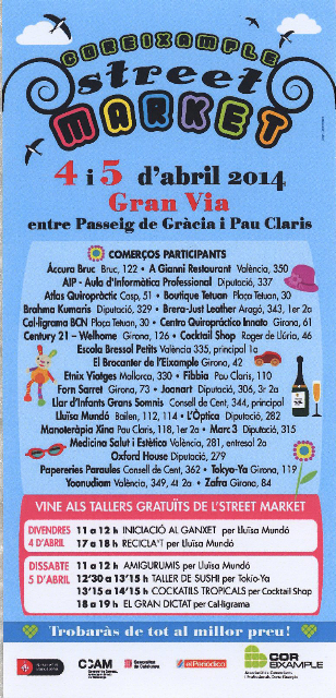 Marc3 al Street Market, 4 i 5 d'abril (entre passeig de Gràcia i Pau Claris)