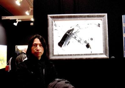 Els nostres clients, exposen les seves pintures, amb els nostres marcs al Louvre de Paris